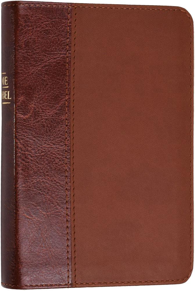 Bild Elberfelder Bibel – Pocketbibel braun, Kunstleder mit Reißverschluss